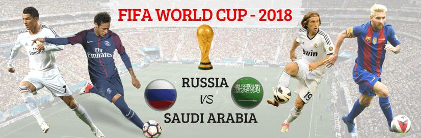 First Match of FIFA World Cup 2018 (Russia vs Saudi Arabia)