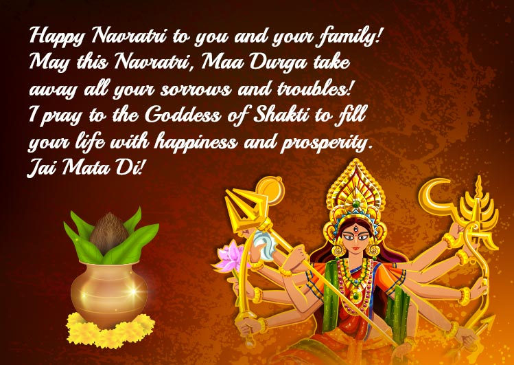 navratri wishes quotes images for status