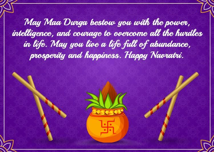 Happy Navratri Quotes for Status