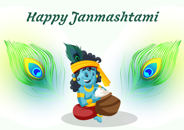 Happy Janmashtami whatsapp status image