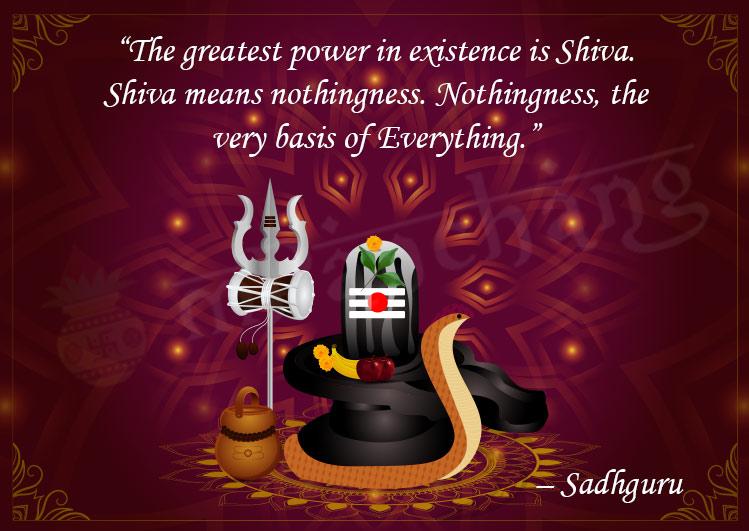 Maha Shivratri - Lord Shiva Quotes by sadhguru in English
