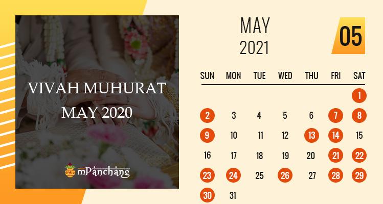 Vivah Muhurat in May 2021