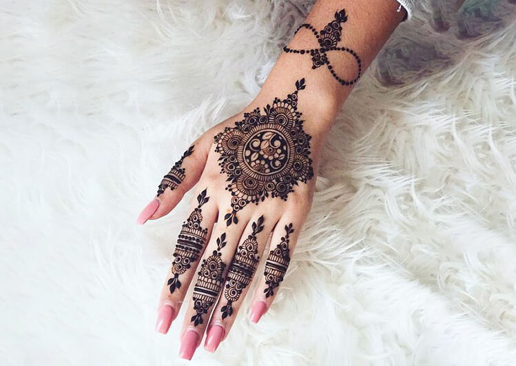 Indo- Arabic Mehndi designs