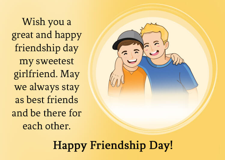 happy friendship  day message for her