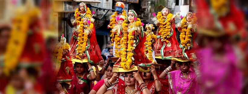 gangaur festival elebration in Jaipur, Udaipur, Jodhpur, Bikaner in rajasthan