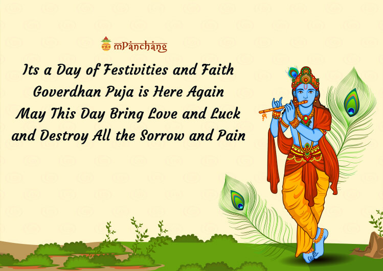 Govardhan Puja Wishes images