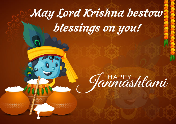 Happy krishna Janmashtami status image for fb whatsapp