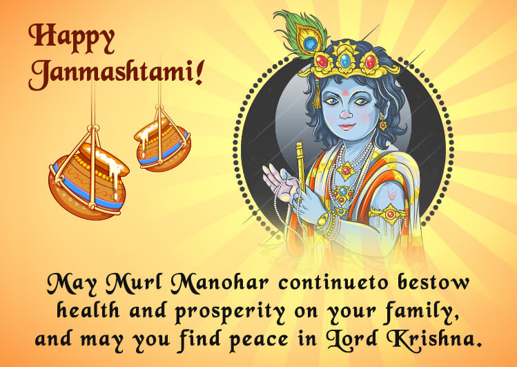 Happy Krishna Janmashtami 2020 wishes and greeting