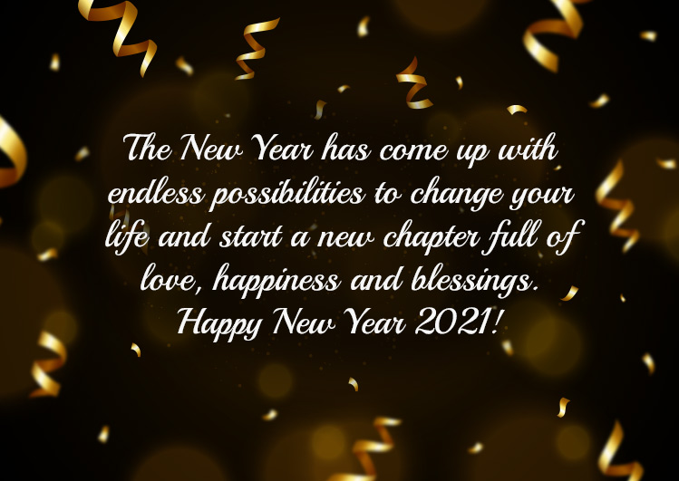 happy new year wishes and messages 2021