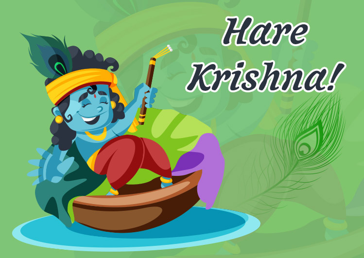 Happy krishna Janmashtami image for status