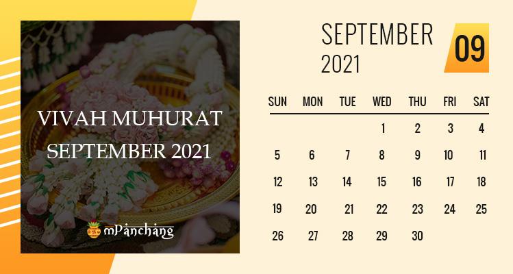 Vivah Muhurat in September 2021