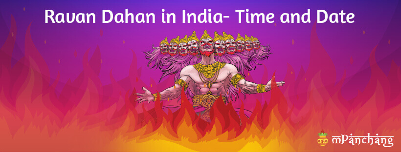 Ravan Dahan in India- Time and Date