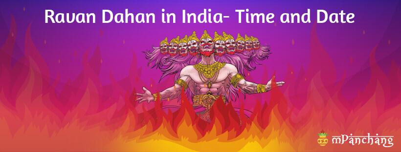 Ravan Dahan in India Time and Date