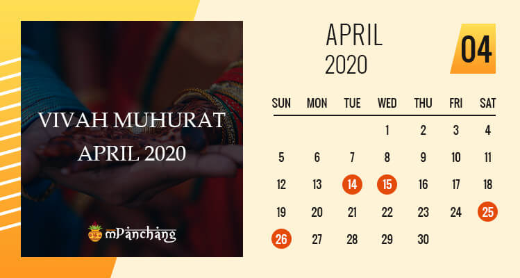 Vivah Muhurat in April 2020