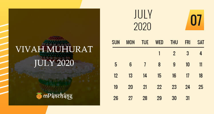 Vivah Muhurat in July 2020