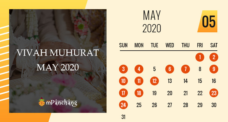 Vivah Muhurat in May 2020