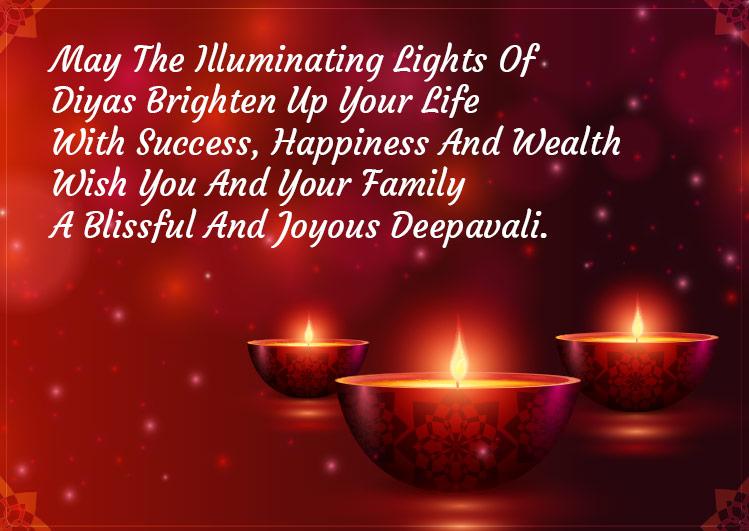 wishing a very happy diwali to you